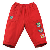 【愛的世界】 MYBEAR 動物圖標防風舖棉鬆緊帶長褲/6~8歲-中國製-