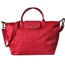 Longchamp Le pliage Neo 尼龍布短帶提/斜背兩用包(紅/中)