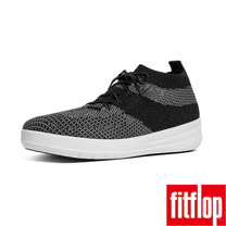 FitFlop™-(女款)UBERKNIT™ SLIP-ON HIGH TOP SNEAKER-黑/灰