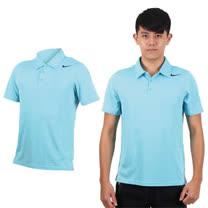 (男) NIKE 翻領短袖針織衫-立領 網球 POLO衫 水藍黑