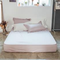 LAMINA 純色-灰芋紫 精梳棉床包(雙人)