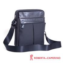 Roberta di Camerino 休閒側背包 - 尼龍配義大利牛皮