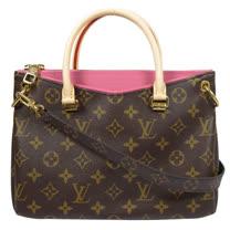 Louis Vuitton LV M43163 PALLAS BB 經典花紋兩用包.粉 現貨