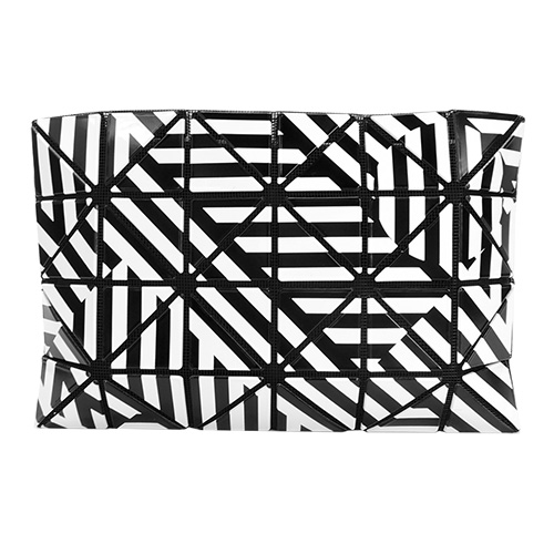 ISSEY MIYAKE 三宅一生 BAOBAO 4x6圈圈線條幾何狂想手拿包(黑白)