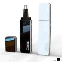 PUSH! 居家用品專利設計隨身碟型鼻毛修剪器電動鼻毛刀I68-1白色