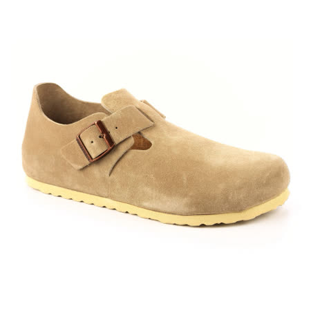 勃肯BIRKENSTOCK 1004281。LONDON倫敦 扣帶休閒鞋(淡米褐色)