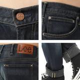 Lee牛仔褲 726 中腰標準小直筒-男款(二手深藍)