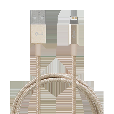 Team Apple原廠MFi認證 Lightning 金屬編織高質感傳輸充電線 (WC01)