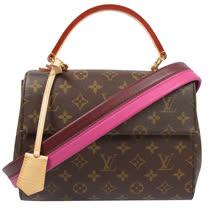 Louis Vuitton LV M42738 Cluny BB 經典花紋兩用仕女包 現貨