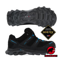 【瑞士 MAMMUT 長毛象】男新款 MTR 71 Trail Gore Tex 超輕量透氣多功能運動休閒鞋/登山健行/Gripex鞋底/03040-00024 藍/黑