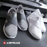 AIR WALK 401彈性交叉繃帶懶人鞋-灰色