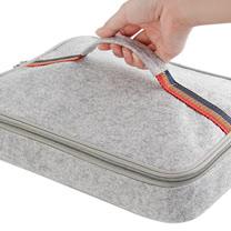 PUSH! 餐具用品保溫飯盒便當盒保溫提袋1入(大號)E90