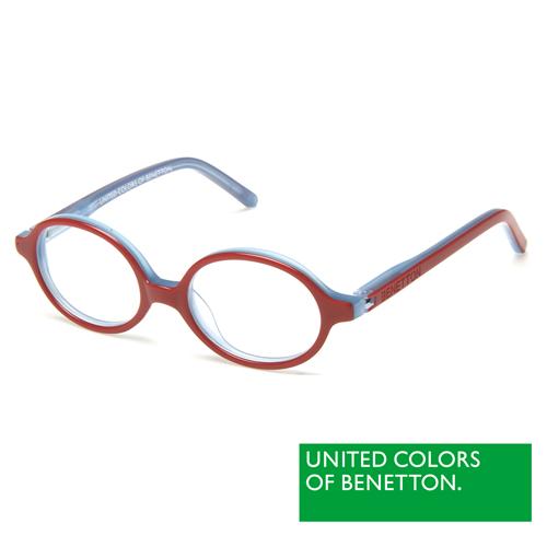 BENETTON  班尼頓 專業兒童眼鏡造型圓框設計系列(紅藍 BB009-84)