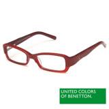 BENETTON 班尼頓 專業兒童眼鏡弧線LOGO設計系列(紅/藍 BB014-02/03)