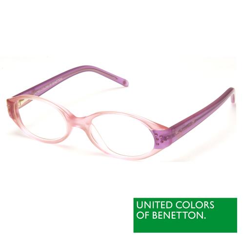 BENETTON 班尼頓 專業兒童眼鏡漸層透色感設計系列(粉紫 BB015-84)