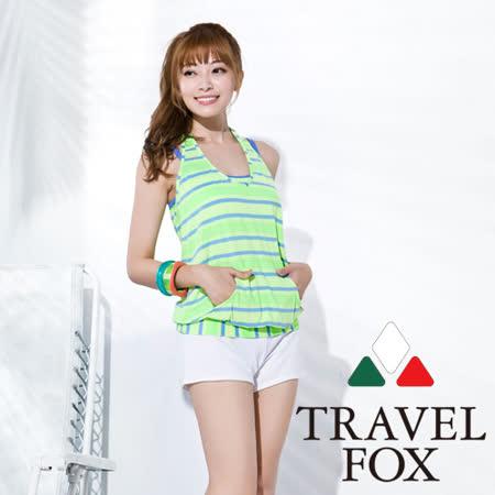 【旅狐TRAVEL FOX】大女亮麗長版四件式泳衣C16718
