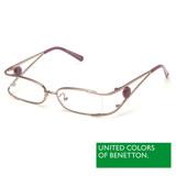 BENETTON 班尼頓 專業兒童眼鏡金屬線型圓扣LOGO設計系列(紅黃/紫/藍 BB025-02/03/04)