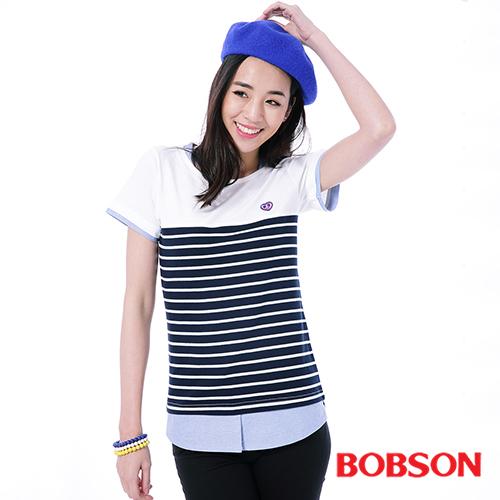 BOBSON 女款仿兩件式上衣 26103~53
