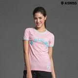 K-Swiss KS Puff Print Tee印花短袖T恤-女-粉紅