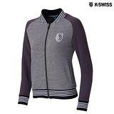 K-Swiss Jacquard Jacket休閒外套-女-灰