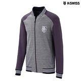 K-Swiss Jacquard Jacket休閒外套-男-灰
