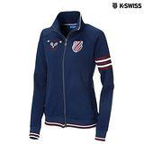 K-Swiss Interlock FZ Jacket運動外套-女-單寧藍