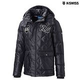 K-Swiss Quilted Down Jacket羽絨外套-男-黑