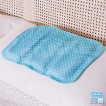 【日本SANKI】小資普普風冷凝涼枕座墊2入