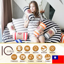 無印風 台灣製針織床包枕套組(雙人)