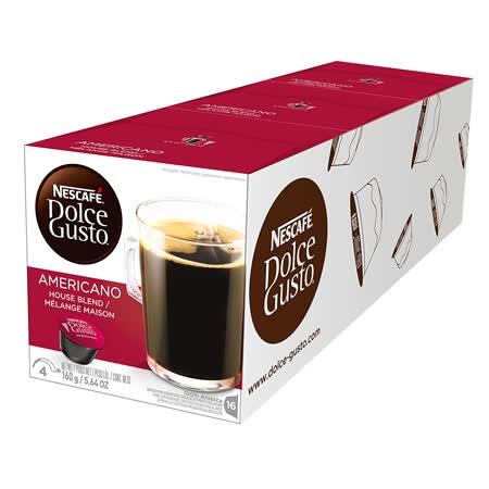 雀巢 NESCAFE 美式经典咖啡胶囊(3盒组,共48颗)(Americano)