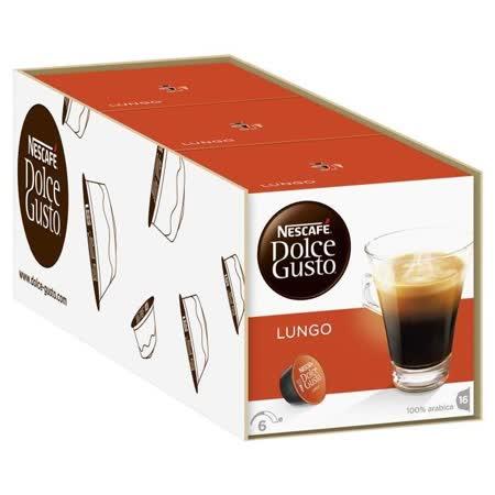 雀巢NESCAFE 美式浓黑咖啡胶囊(3盒组,共48颗)(Lungo)