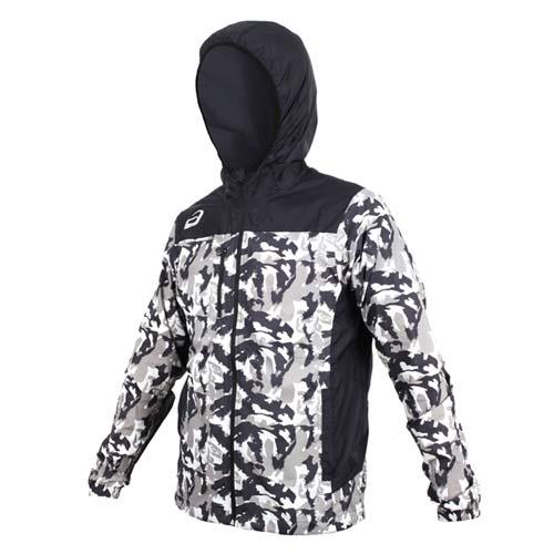 男  ASICS 平織外套~連帽外套 慢跑 路跑 亞瑟士 黑灰白