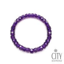 City Diamond引雅 紫水晶切角手鍊(TCB0538)