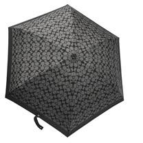 COACH經典Clogo印花晴雨兩用三折傘(黑灰)