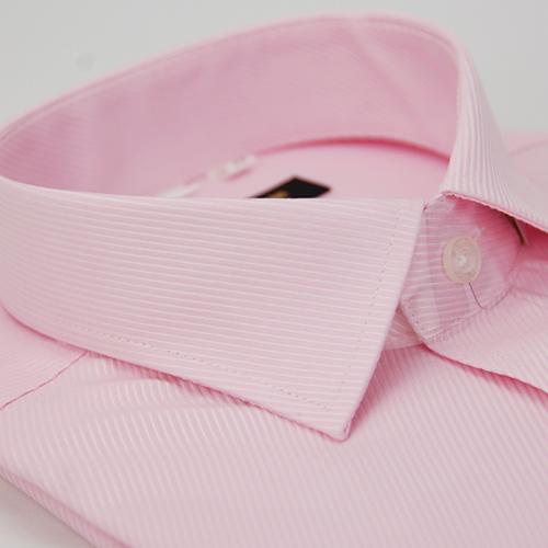 ~金安德森~粉色斜紋窄版長袖襯衫 品特