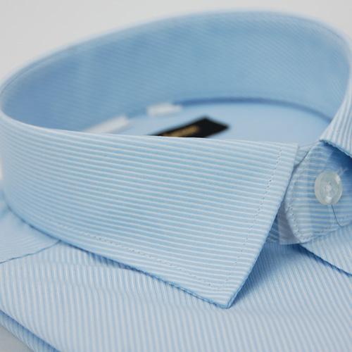~金安德森~藍色斜紋窄版長袖襯衫 品特