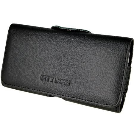真皮系列 腰夾式/穿帶式 橫式手機皮套 (適用5.2吋~5.5吋)