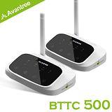 Avantree 低延遲無線藍牙接收/發射器-支援數位光纖/類比音源(BTTC500)-遠距一對一無線組