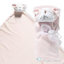 美國 Angel Dear 大頭動物嬰兒毛毯 (粉紅鬥牛犬)