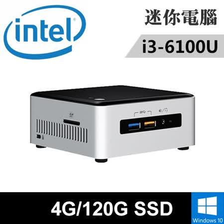 Intel NUC6I3SYH-04120X 特仕版 迷你電腦(i3-6100U/4G/120G SSD/WIN10)