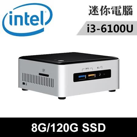 Intel NUC6I3SYH-08120N 特仕版 迷你電腦(i3-6100U/8G/120G SSD)