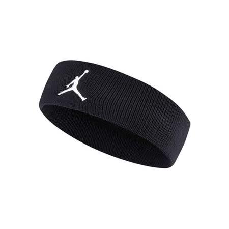 NIKE JORDAN JUMPMAN 單色頭帶-飛人喬登 籃球 NBA 一條入 黑白 F