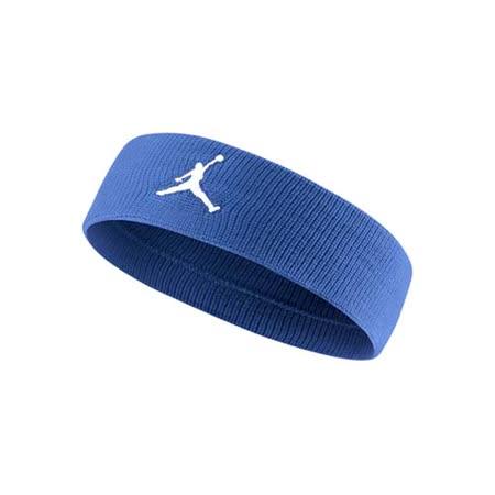 NIKE JORDAN JUMPMAN 單色頭帶-飛人喬登 籃球 NBA 一條入 藍白 F