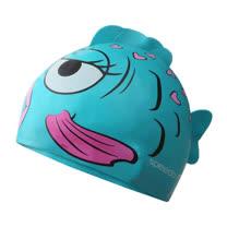 (童) SPEEDO 男女兒矽膠泳帽-游泳 戲水 海邊 海灘 湖水綠粉紅 F