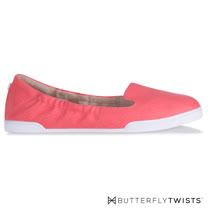 BUTTERFLY TWISTS-JADE記憶軟墊平底鞋-珊瑚紅