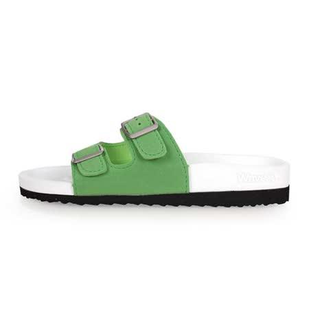 (女) WAVE3 水手鞋-拖鞋 游泳 戲水 海邊 海灘 沙灘 白綠
