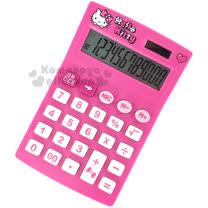 〔小禮堂〕Hello Kitty 計算機《S.粉.大臉.愛心.KT-200》12位元