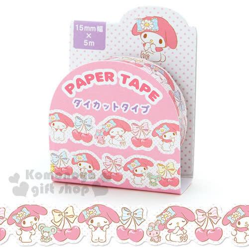 〔小禮堂〕美樂蒂 紙膠帶~白.粉點點.櫻桃.15mm~增添可愛氣氛