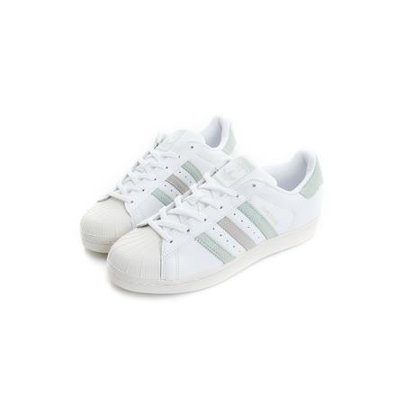 Adidas 女鞋 復古鞋 米白 SUPERSTAR W - BB2142