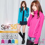 【BeautyFocus】台灣製抗UVUPF50+立領輕量防曬外套-5062
